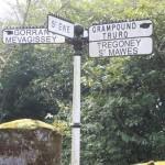 Iron Finger Post in Centre of St Ewe