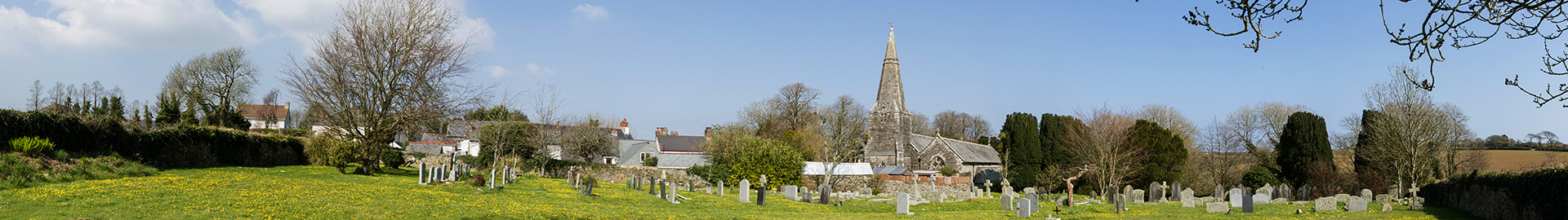 St Ewe Church Yard Panoramic