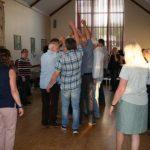 Dancers at Barn Dance in Village Hall