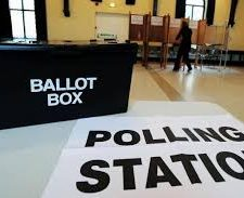 Polling station at St Ewe Village Hall
